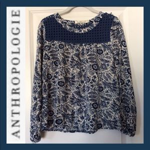 ANTHRO Solitaire Paisley Blouse